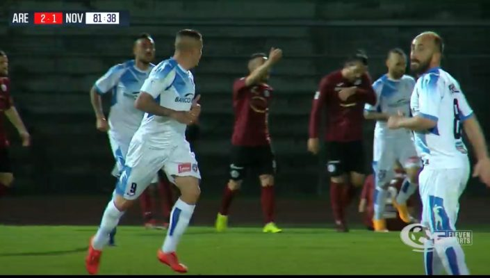 Arezzo Novara 2-2 Play-off serie C Lega Pro