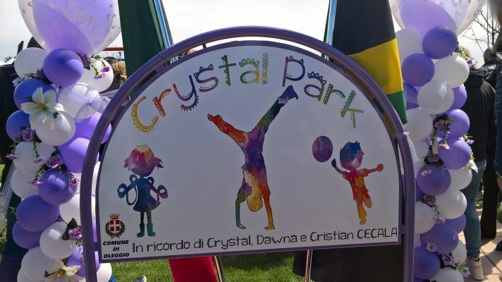 Inaugurato il parco dedicato a Crystal Cecala