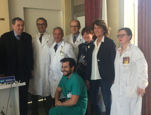 Rotary apparecchiatura all'ospedale di Borgomanero