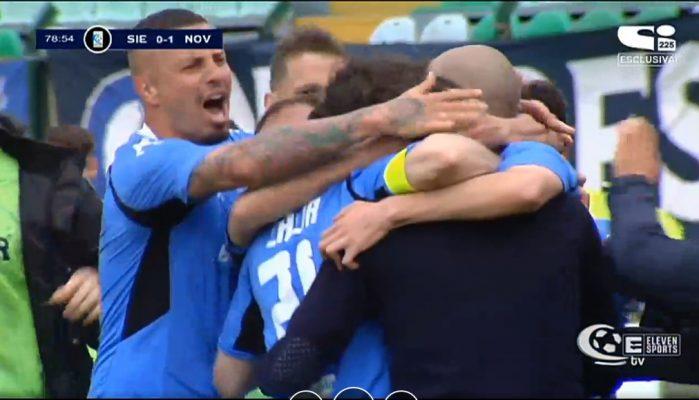 E' finalmente nato il Novara Viali-Cacia. Azzurri avanti nei play-off dopo la vittoria di Siena