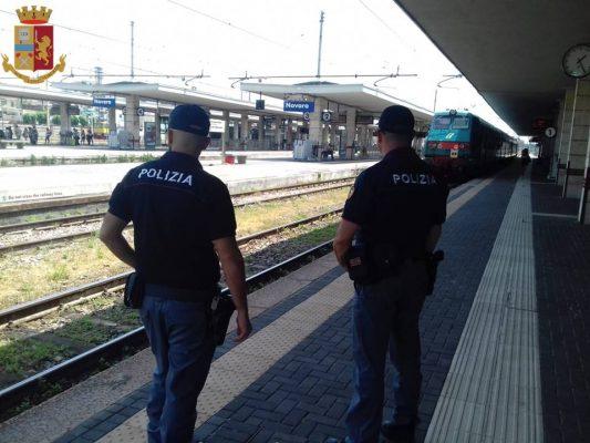 A Novara e Vercelli, un arresto e due denunciati dalla Polizia Ferroviaria