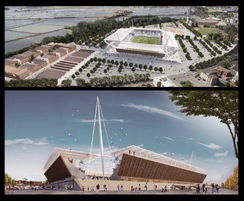 Cittadella dello Sport, vince l'armonia del legno. Ecco il nuovo Stadio Piola firmato AMA