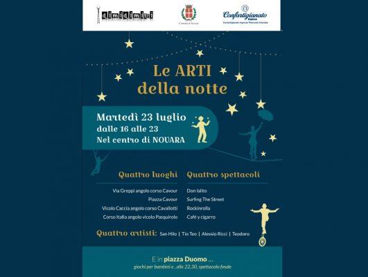 Martedì 23 luglio nel centro di Novara, artisti di strada e negozi aperti