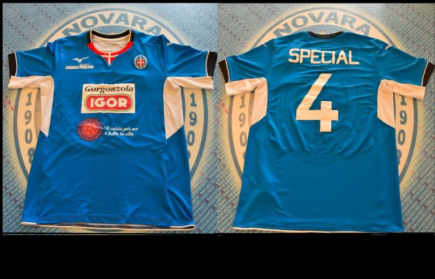 Ecco la nuova maglia del Novara, Igor Gorgonzola sponsor principale anche del calcio