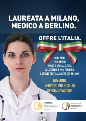 Parte la campagna dell'ordine dei medici contro la fuga all'estero dei giovani dottori.