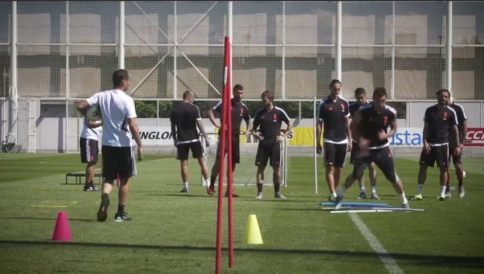 Juventus Novara allenamento amichevole Continassa
