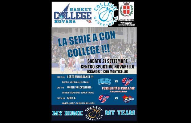 Basket College Novara La Lucciola minibasket Novarello Junior Casale Orions