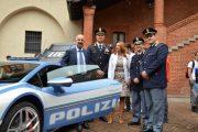 La Lamborghini della polizia Stradale in mostra al Broletto