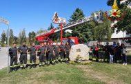 I vigili del fuoco di Novara commemorano l'11 settembre