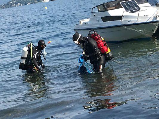 """Sul lago d'Orta torna """"Pulito in profondità"""", iniziativa ecologista con finalità benefiche"""