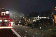 Incidente sull'A4 nella zona di Biandrate: corsia chiusa e due camionisti feriti