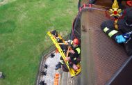 Vigili del fuoco, prove di soccorso nella statua del San Carlone