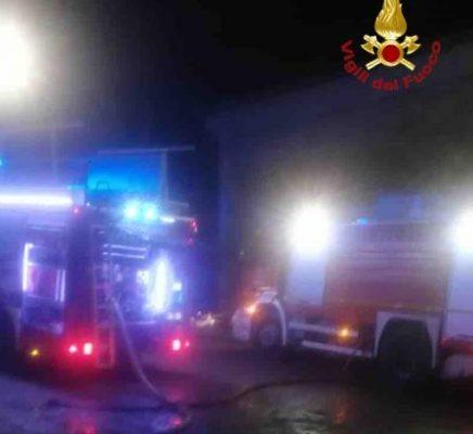 Incendio in un fabbricato