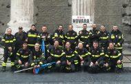 Anche i Vigili del fuoco di Novara in piazza a Roma