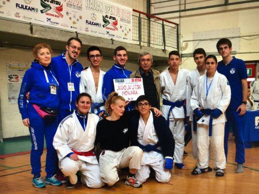 Agli Open d'Italia di Genova 1 oro e 3 argentiper la Judo Ju Jitsu Novara