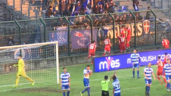 Dieci anni dopo è bolgia azzurra. Il Novara batte la Pro Patria allo Speroni 2-1