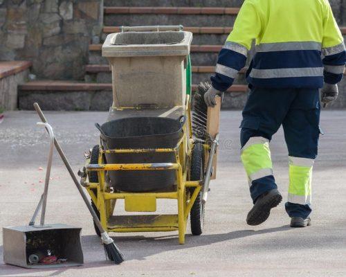 pulizia strade scopa paletta Assa