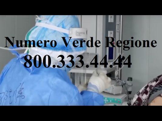 Aggiornamento Coronavirus. C'è il numero verde della Regione. Attenzione ai falsi addetti sanitari