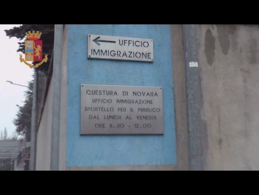 Questura Novara permessi soggiorno irregolari stranieri denunce