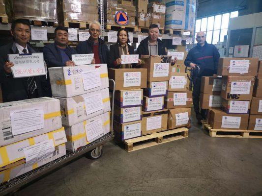 Coronavirus. Gesto di fratellanza della Comunità Cinese: materiale sanitario donato al Piemonte