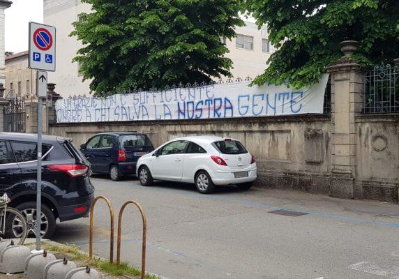 buonafede dietrologia polemica politica striscione ultras Nuares tifosi ospedale Maggiore Novara