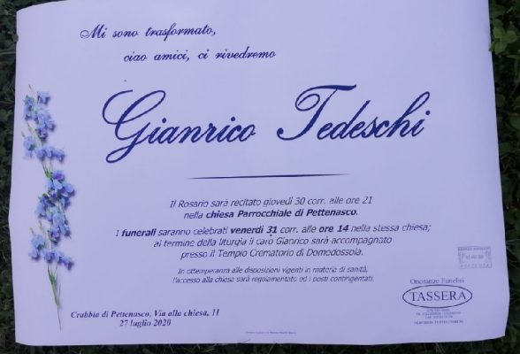 """""""Mi sono trasformato, ciao amici, ci rivedremo"""". Venerdì a Pettenasco i funerali di Gianrico Tedeschi"""