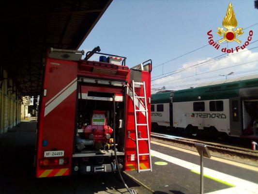 Principio d'incendio in stazione spento dai Vigili del Fuoco di Novara