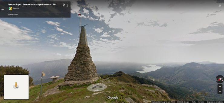 Orta Lake sentieri Google Maps View Lago d'Orta
