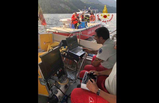 Sul fondale del lago d'Orta a 140 mt, il robot dei Vigili del Fuoco ritrova il corpo di Enrico Faraglia