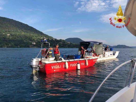 Enrico Faraglia annegato lago d'Orta Vigili del Fuoco