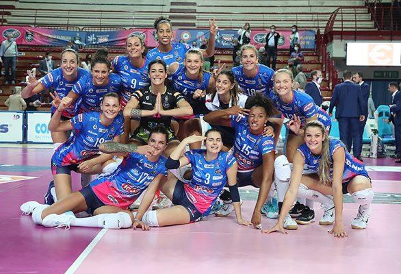 Novara non stecca il classico: nell'esordio stagionale al Pala Igor, 3-0 delle azzurre alla Zanetti Bergamo