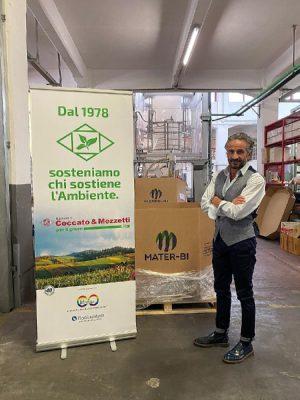 mascherine biodegradabili ecologiche Mater-Bi Coccato&Mazzetti Novamont Galliate Novara