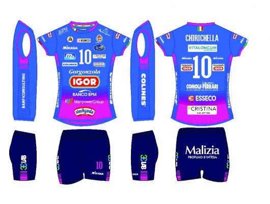 Divise maglie stagione 2020 2021 Igor Volley Novara