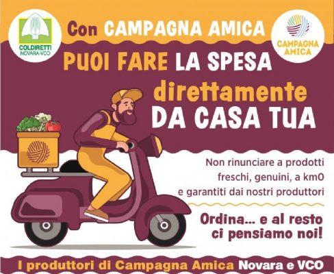 """Al mercato in sicurezza o consegna a casa: Coldiretti Novara-Vco rilancia """"Campagna Amica"""""""