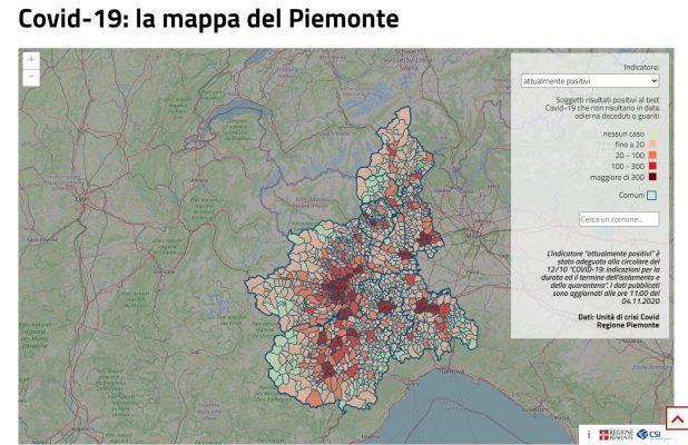 Piemonte zona Rossa esclusione provincia Novara VCO