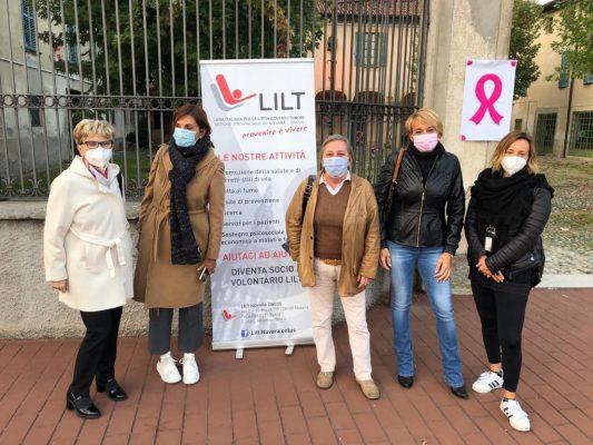 visite prevenzione tumore al seno Novara Lilt Ottobre nastro rosa