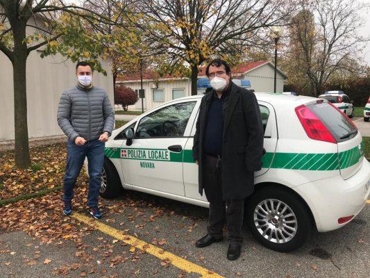 auto cella sicurezza Polizia Locale Novara