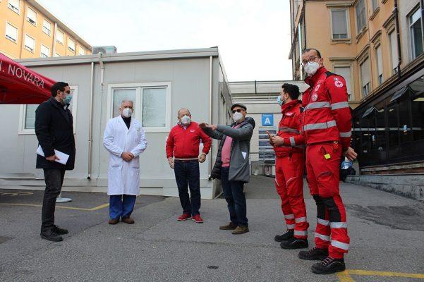 Tenda CRI Pronto Soccorso Ospedale Maggiore Novara