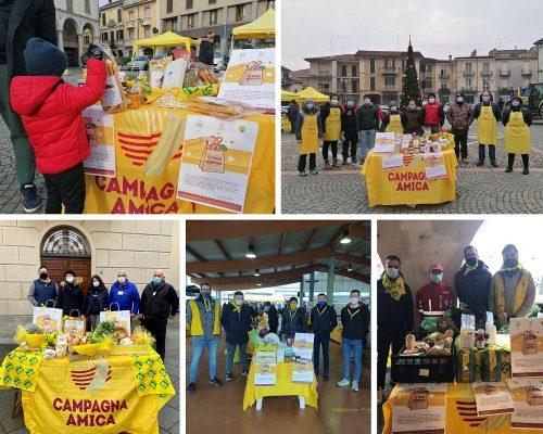 Dai Mercati di Campagna Amica di Novara, Bellinzago e Trecate, donato cibo alle famiglie in difficoltà