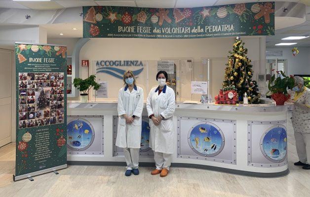 Grazie ad associazioni e volontari, la Pediatria del Maggiore si veste della magia del Natale