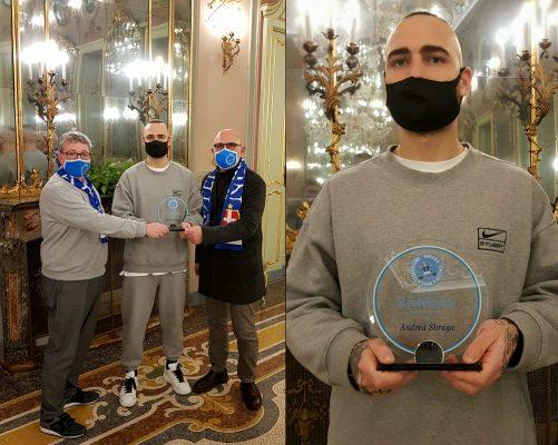 I Fedelissimi premiano Andrea Sbraga, mentre il Novara calcio lo cede all'Arezzo