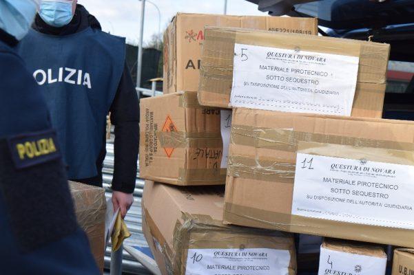 fuochi d'artificio pericolosi sequestro Arona Polizia Novara