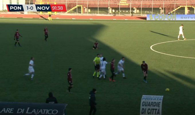 Il Novara domina ma vince il Pontedera sfruttando l'unico errore difensivo azzurro