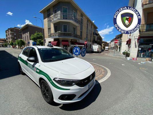 Un altro inseguimento a Trecate, la Polizia Locale blocca un automobilista in fuga senza assicurazione