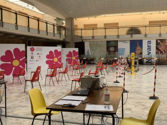 open night vaccinazione Salone Borsa Novara