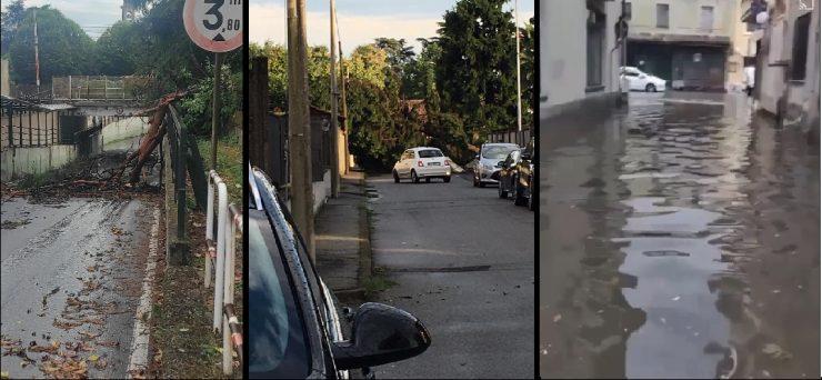 nubifragio bomba d'acqua tromba d'aria Provincia Novara