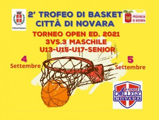 Nel fine settimana in via Poerio, 2° Torneo Città di Novara di basket 3Vs3
