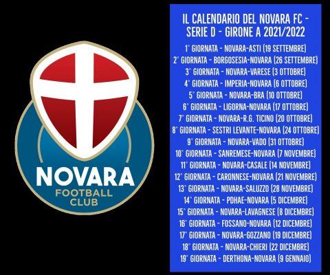 Novara FC calendario serie D biglietti Coppa Italia
