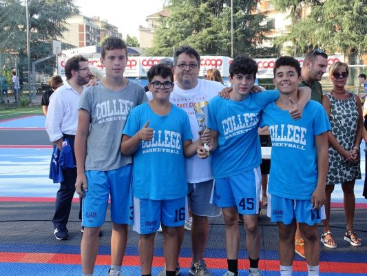 vincitori secondo Torneo Città di Novara 3Vs3 College Basket