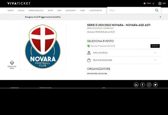 Novara FC Asti Stadio Piola biglietto campagna abbonamenti